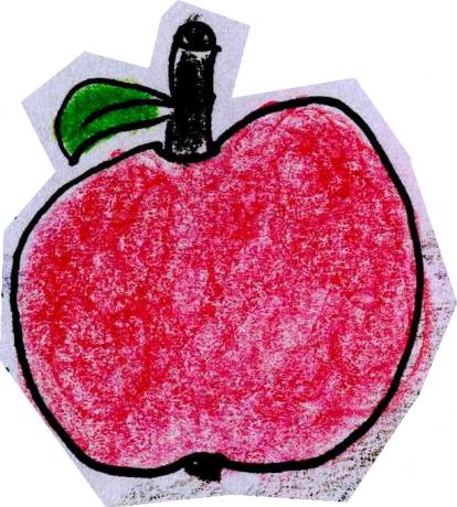 Çizdim bir kırmızı elma :)